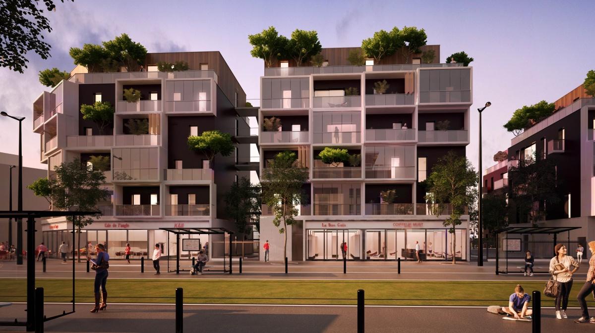 51 logements et commerces à Montfermeil : VUE FAILLES 2
