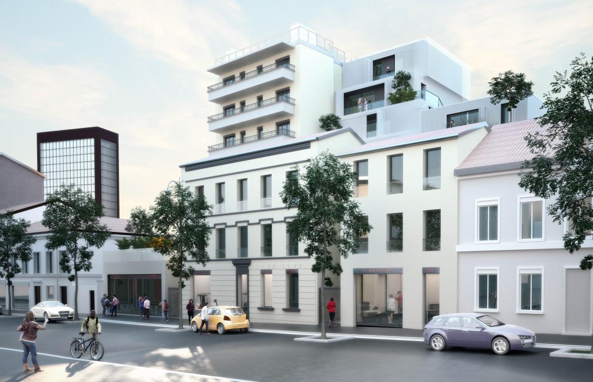 38 logements et commerce à Bagnolet