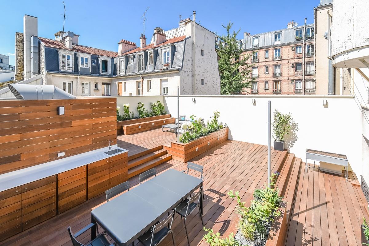 Création d'une terrasse sur le toit d'un immeuble à Paris : creation terrasse toit
