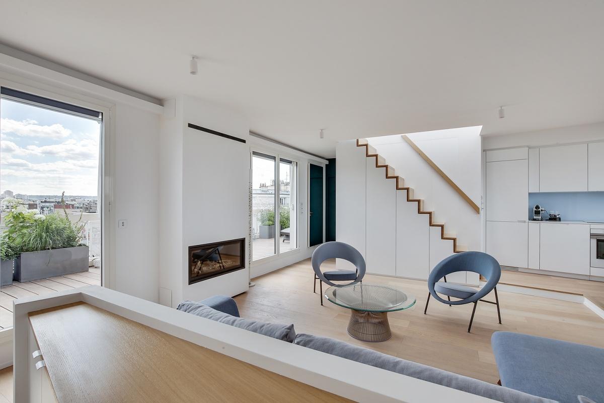 Réaménagement d'un appartement à Paris et création d'un rooftop : Architecte interieur