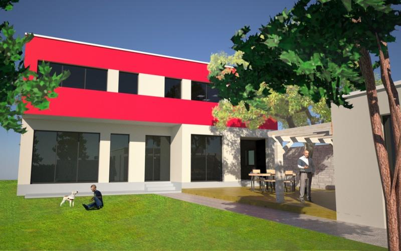 Maison Moderne Chessy 1