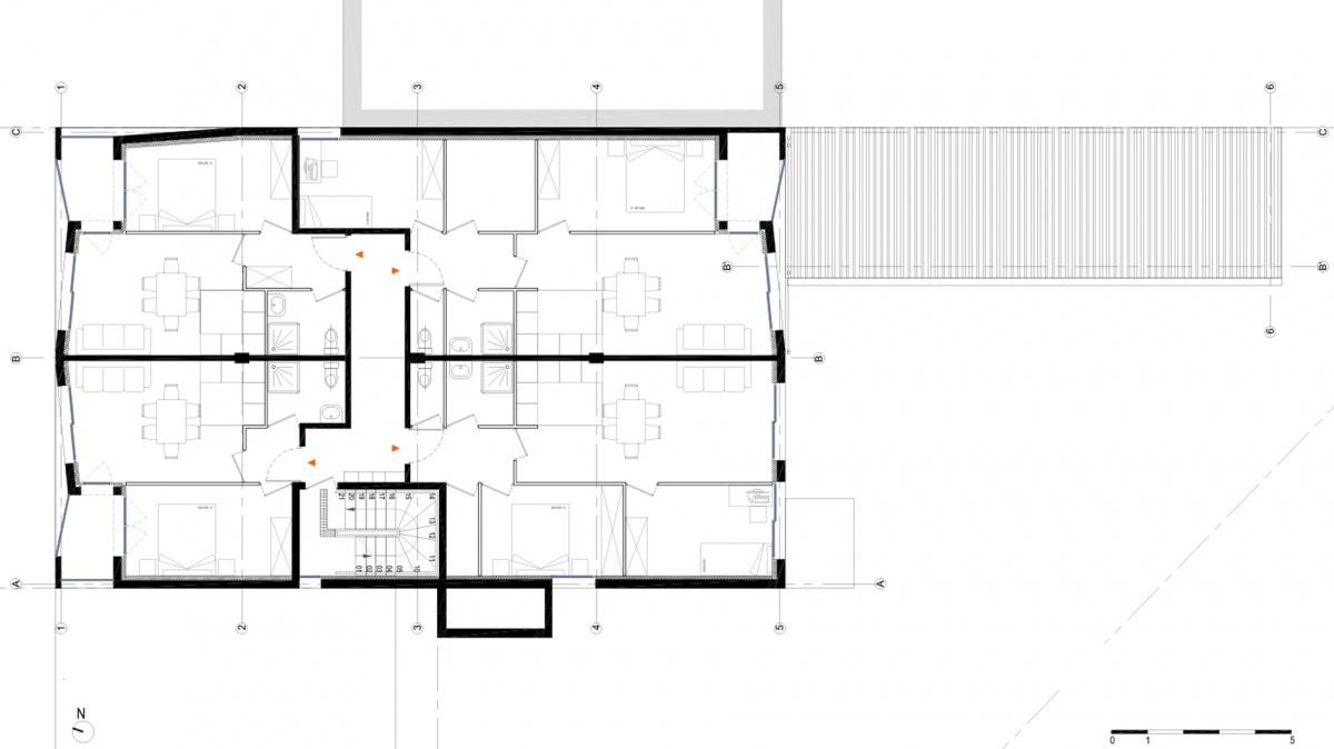 Transformation d'un centre médical + 8 logements - Gagny : Gagny_centre medical et logements_PLAN R+2