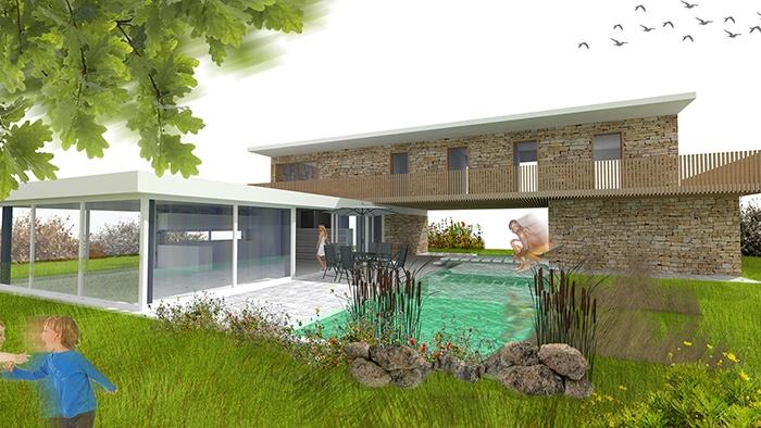 Projet de maison contemporaine avec piscine en Roumanie // Promoteur privé