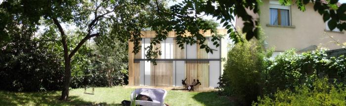 Maison BBC ossature bois à Colombes 92