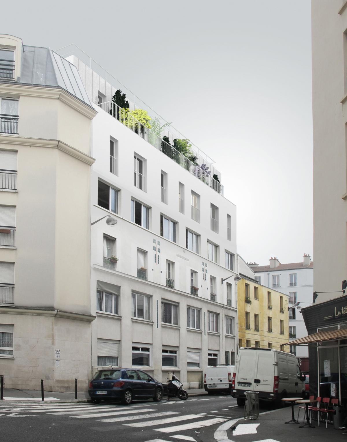 Surélévation d'un immeuble collectif