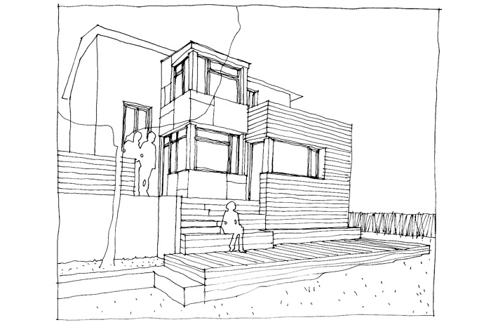Extension de maison : CROQUIS