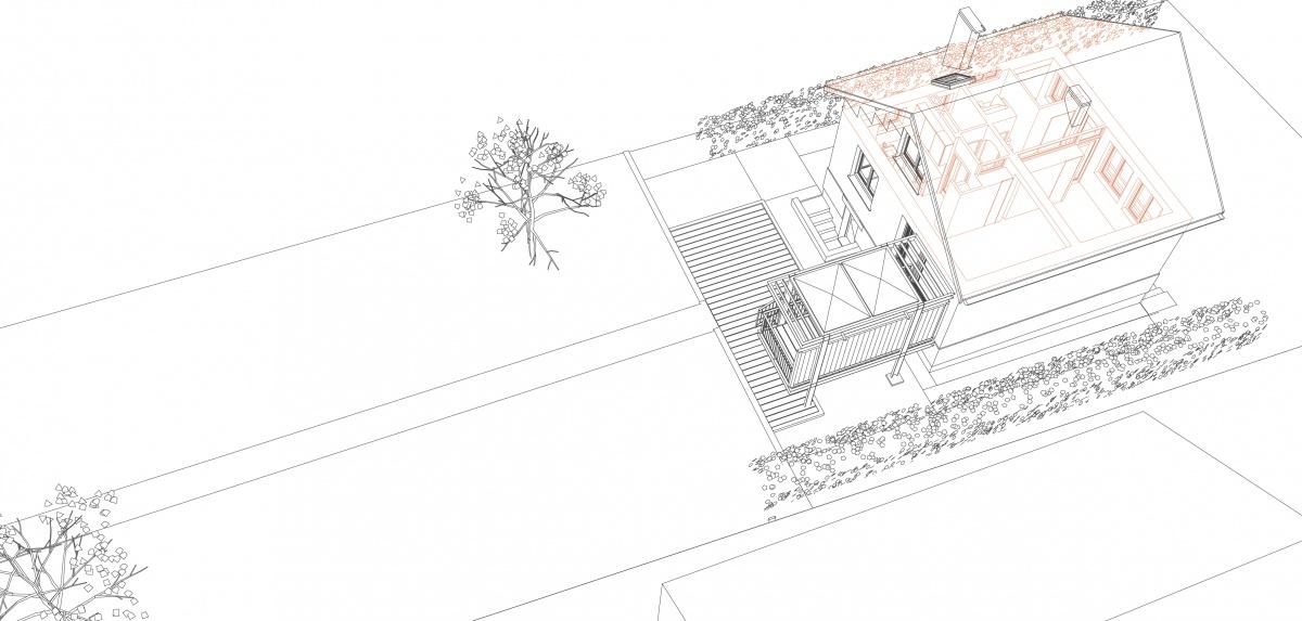 Terrasse Belvédère : 2 D2 Axo éclatée 2 Feuille de travail _ Indépendant light