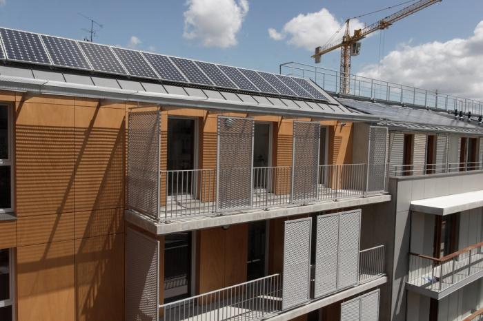 15 logements sociaux et un local commercial 25/27 rue Myrha : vue sur la façade sud