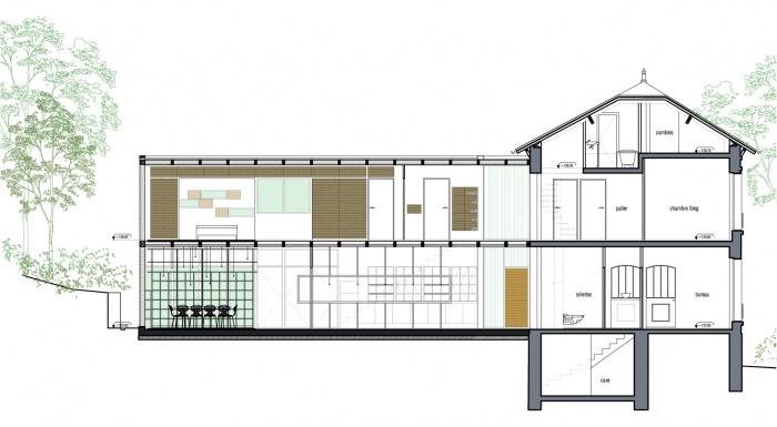 architectes extension en bois d 39 une maison en meuli re paris. Black Bedroom Furniture Sets. Home Design Ideas