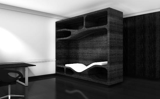 meuble cloison design. Black Bedroom Furniture Sets. Home Design Ideas