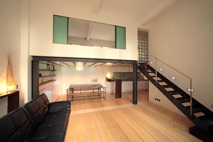 Architectes loft parisien paris - Hauteur sous plafond mezzanine ...