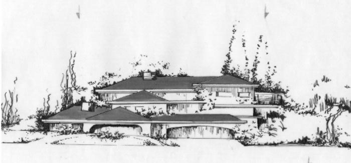 Villa JOLAY : Vue prévue sur le Projet