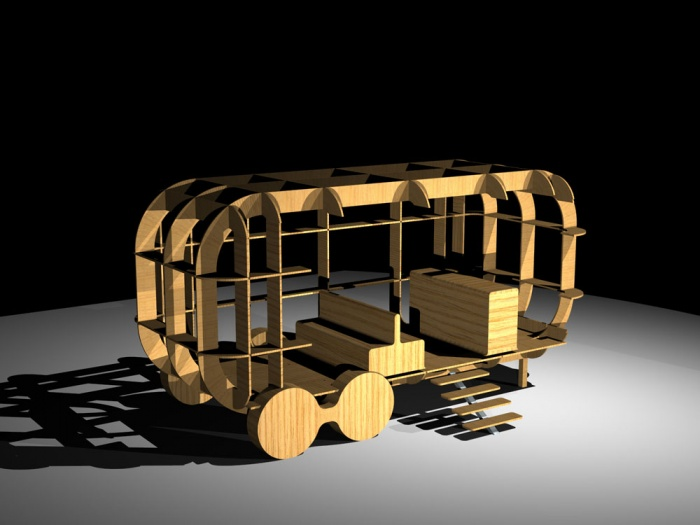 Architectes structure ph m re pour stand v nementiel paris - Caravane d architecture ...