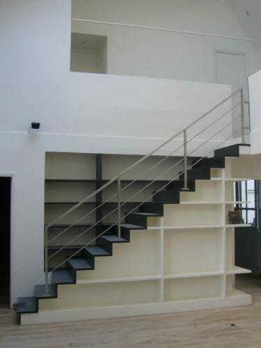 Architectes-paris.com - Escalier-Bibliothèque dans appartement ...