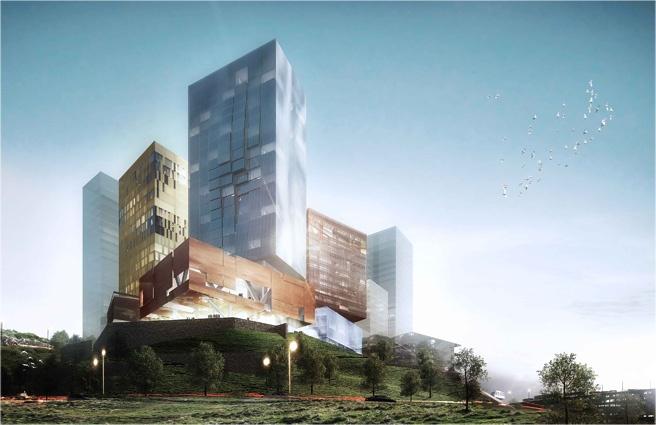Concours Erevan, centre d'affaires et hôtel Intercontinental