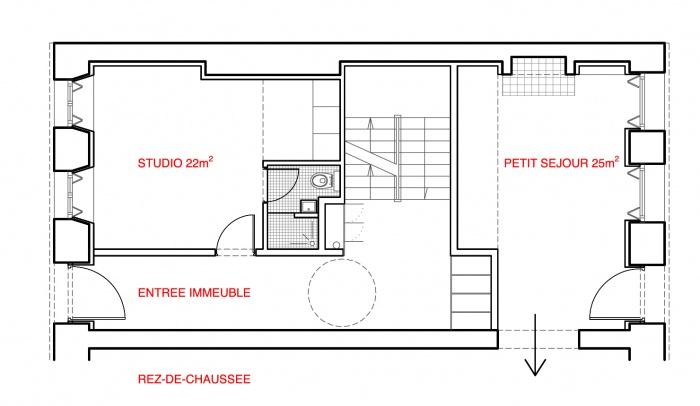 Rehabilitation rue Lesueur : LES-RDC.gif