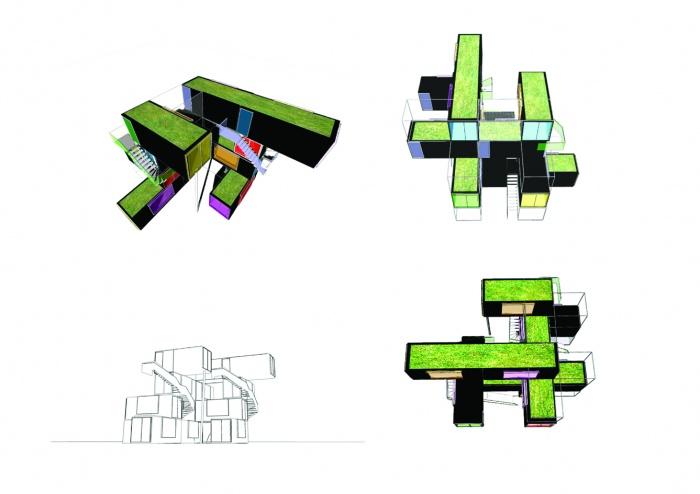 projet de maison container une r alisation de laps. Black Bedroom Furniture Sets. Home Design Ideas