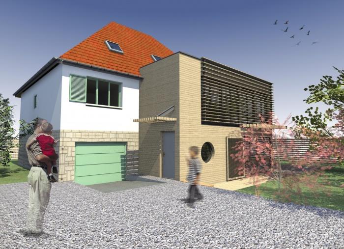 extension bois houilles une r alisation de modern architecture group. Black Bedroom Furniture Sets. Home Design Ideas