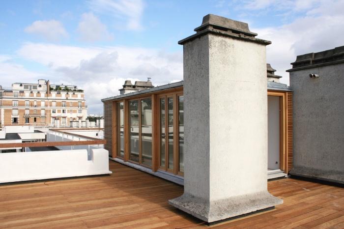 Pavillon de th work in progress boulogne billancourt for Edicule toiture terrasse