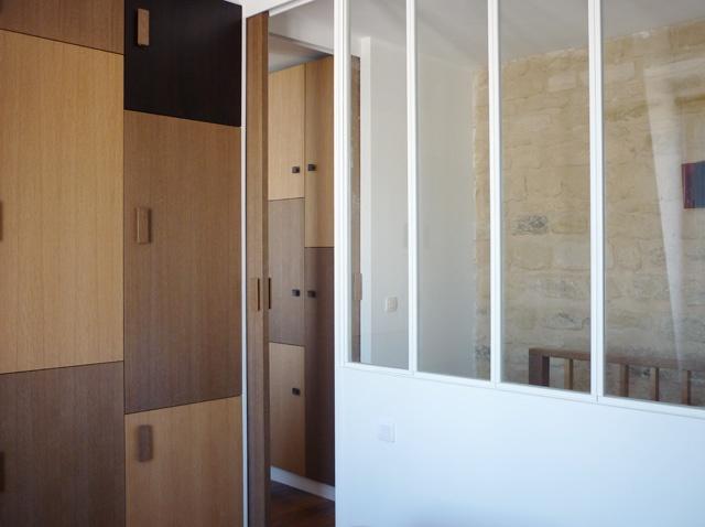 Aménagement des chambres à l'étage d'un duplex