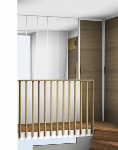 am nagement des chambres l 39 tage d 39 un duplex paris 16 une r alisation de atelier premier tage. Black Bedroom Furniture Sets. Home Design Ideas