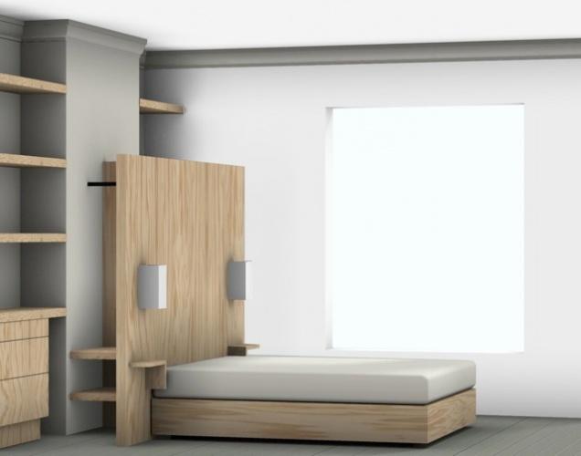 Rénovation d'un appartement classique : chambre adulte