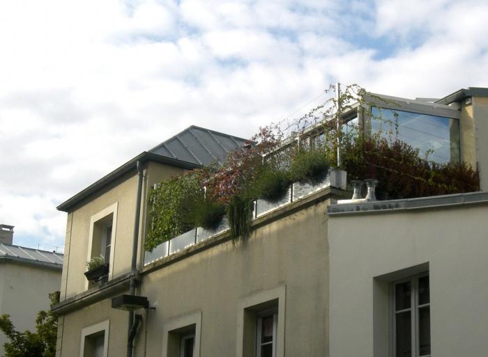 Loft contemporain : façade