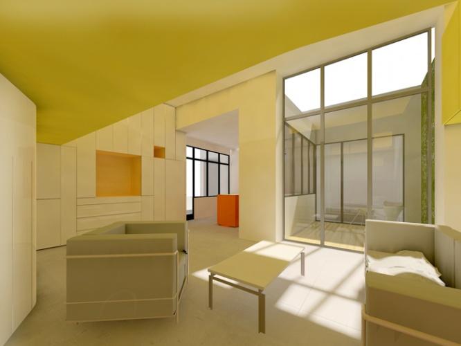 architectes meuble recto verso paris. Black Bedroom Furniture Sets. Home Design Ideas