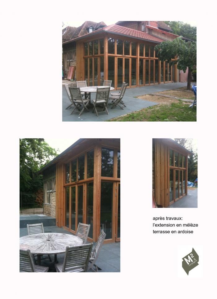 extension bois en mélèze