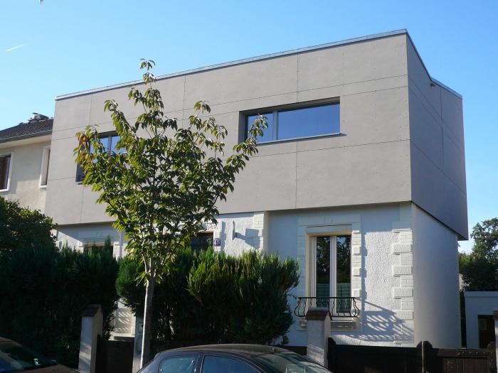 architectes sur l vation en zinc paris 20eme paris. Black Bedroom Furniture Sets. Home Design Ideas