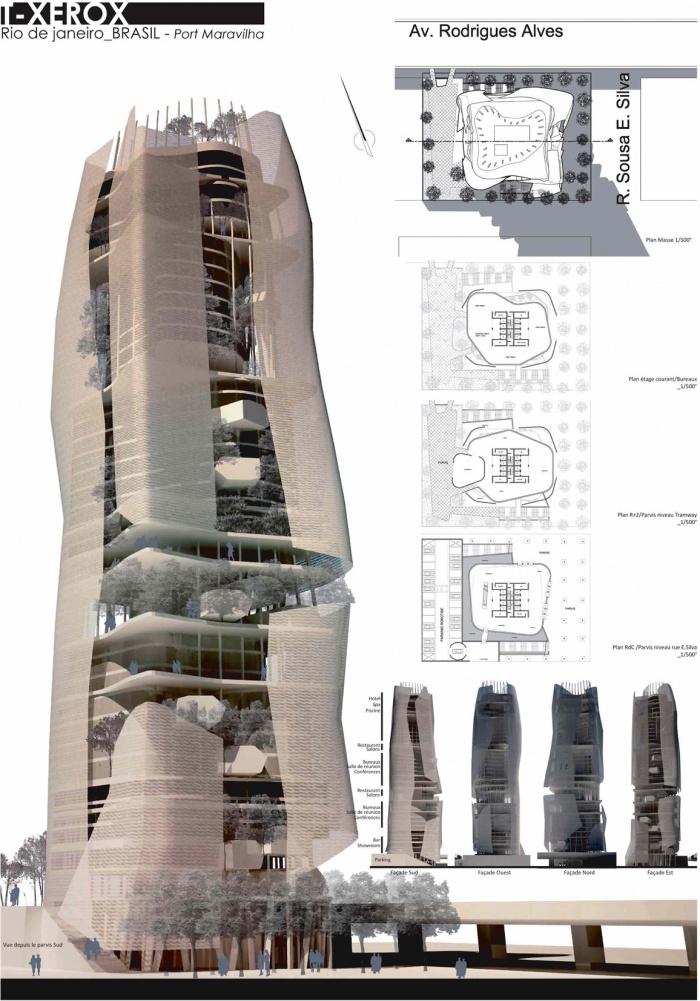 Une tour bioclimatique