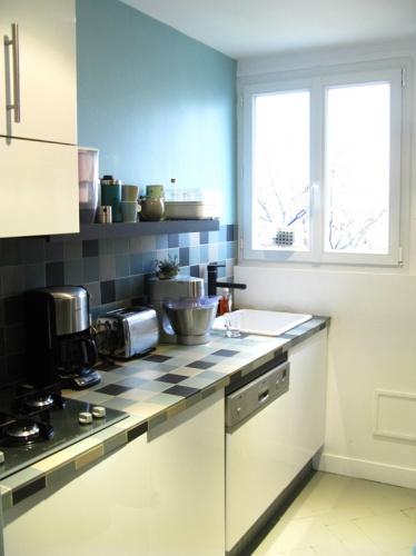 Architectes r novation et r organisation d 39 un for Gres cerame plan de travail cuisine