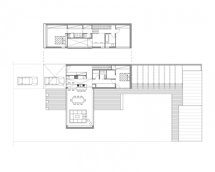 Maison contemporaine à Tigery (91) : Plan Architecte