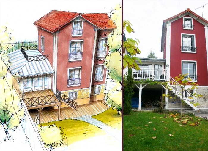 Architectes extension maison individuelle for Architectes de france