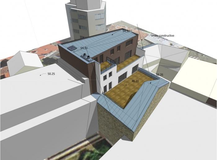 Immeuble André Morand : projet vue arrière SO 02