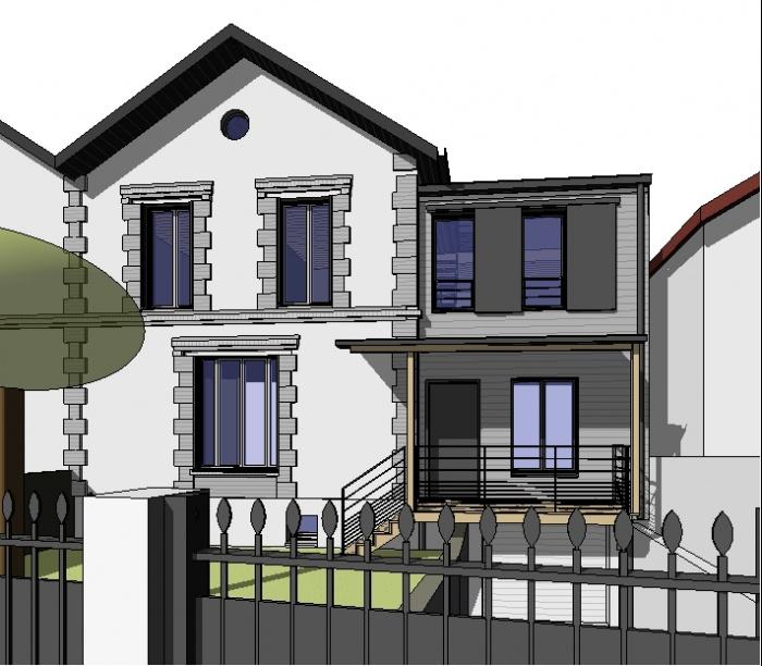architectes extension en ossature bois houilles. Black Bedroom Furniture Sets. Home Design Ideas