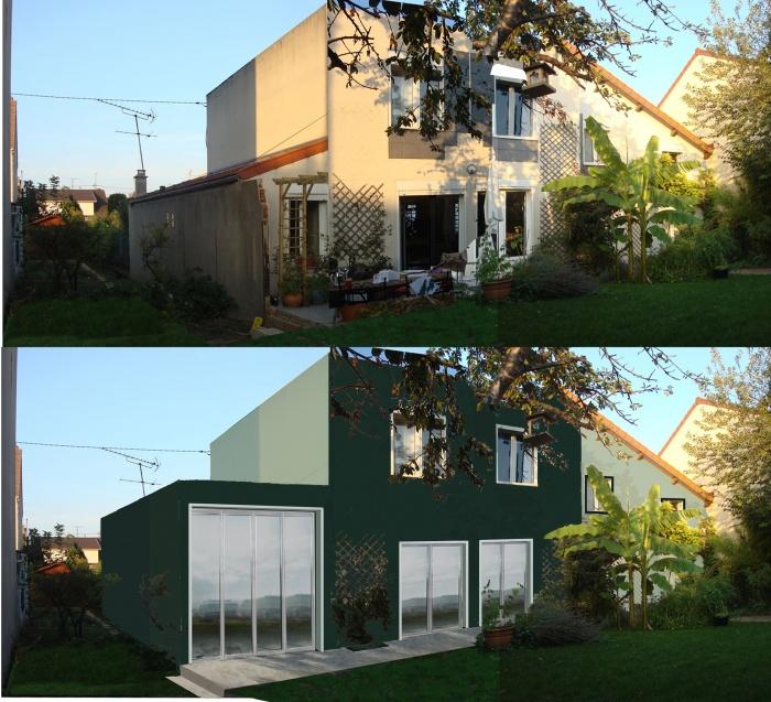 Extension + réhabilitation partielle d'une maison individuelle