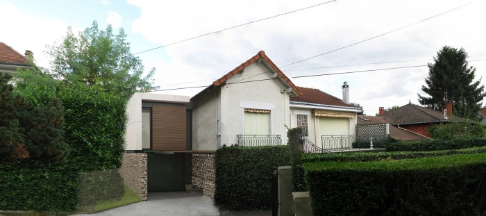 Extension d 39 une maison 1930 garches une r alisation de for Facade maison 1930