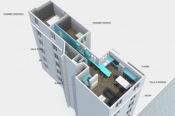 Appartement de 72m² dans le 18e arrondissemnt de Paris