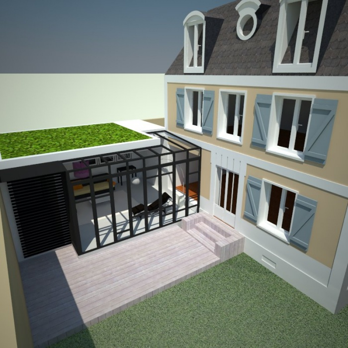 Extension et rénovation Bois Colombes : 5