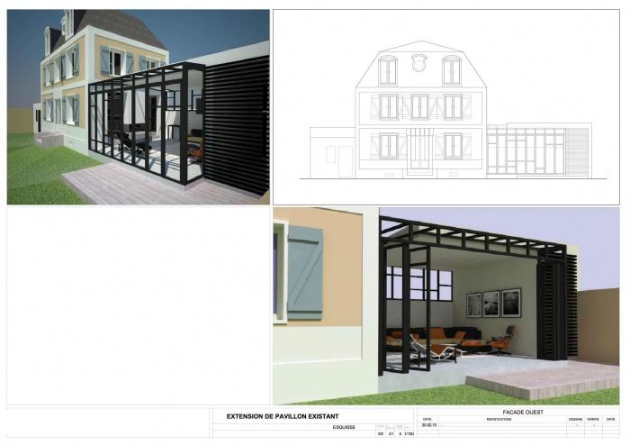 Extension et rénovation Bois Colombes : A3-F1