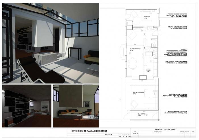 Extension et rénovation Bois Colombes : A5-RDC1