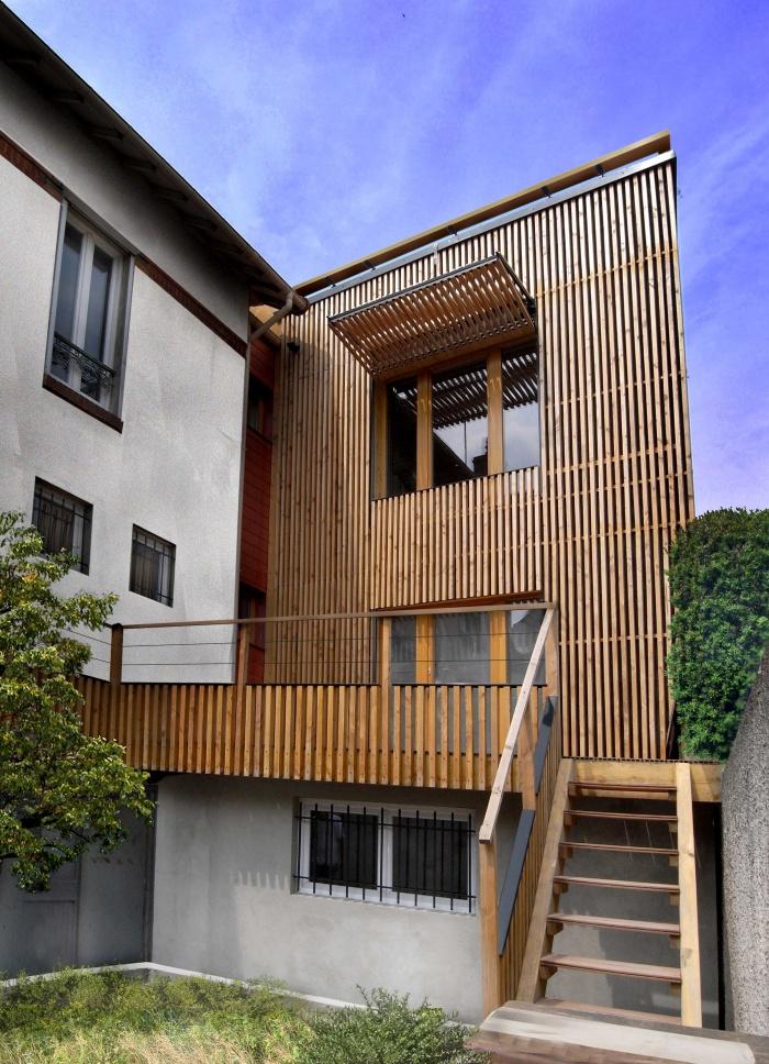 Extension en bois HQE : 11