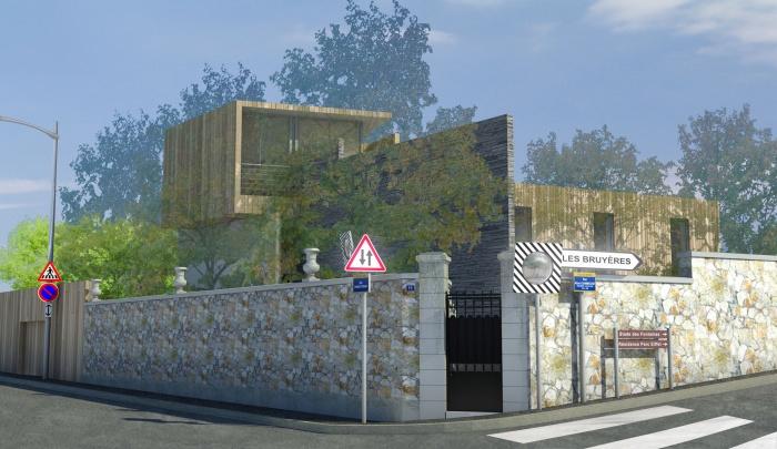 construction d 39 une maison familiale s vres une r alisation de arch e tek. Black Bedroom Furniture Sets. Home Design Ideas