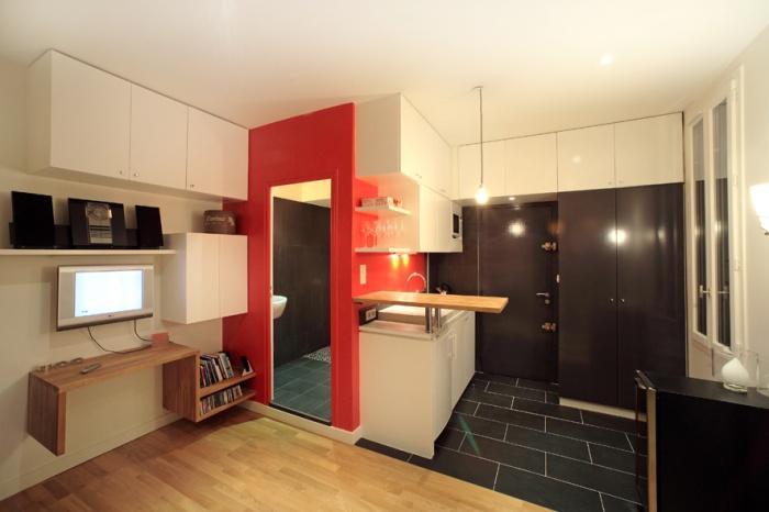am nagement studio paris une r alisation de damien lamy. Black Bedroom Furniture Sets. Home Design Ideas