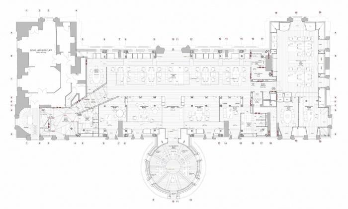 Aménagement combles Hôtel de Ville : plan du projet
