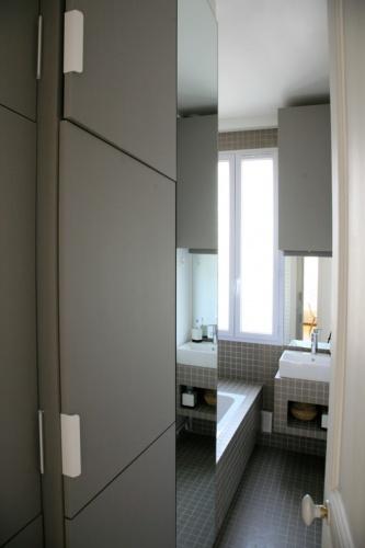 Architectes r novation d 39 un appartement - Lave linge dans salle de bain norme ...