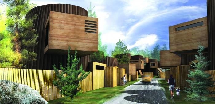 the wooden urban village in myllypuro : image_projet_mini_3442