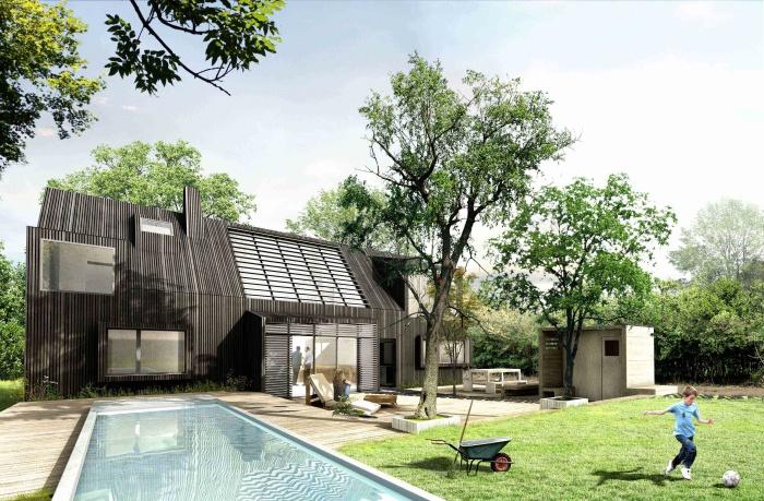 Une villa BBC en bois