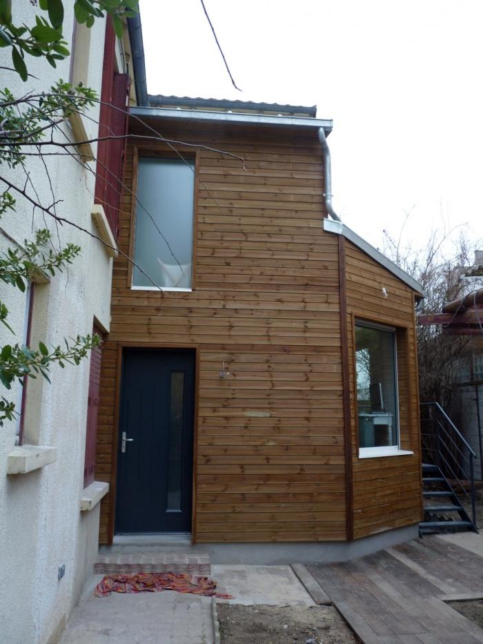 architectes extension bois asni res sur seine. Black Bedroom Furniture Sets. Home Design Ideas